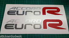 Honda Accord R Euro CL7 CL9 OEM Rojo x 2 panel lateral calcamonías OSCURO COCHES