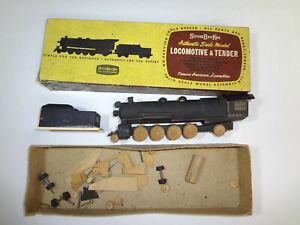 Wooden Model Strombecker Locomotive & Tender 2-8-2 Mikado R-1 Engine