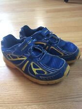 Stride Rite Boys Size 11 - Light Up Tennis Shoes, Blue/Yellow, Velcro