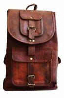 Men's New Vintage Canvas Leather Messenger Backpack Shoulder Travel Satchel Bag