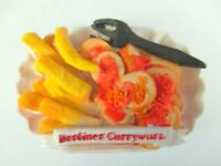 Berlin Currywurst Magnet mit Pommes Germany Premium Souvenir ,Polyresin,NEU
