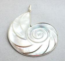 Perlmutt Nautilus Muschel Anhänger Silber 925
