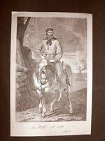Giuseppe Garibaldi nel 1848 Incisione del 1881 Dinastia di Savoia Oscar Pio