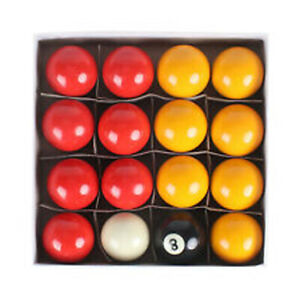 """EX DEMO KIDS REDS & YELLOWS 1 1/2"""" (3.81cm) POOL BALLS FOR HOME USE TABLE"""