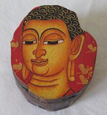 Fair Trade Wooden Hand Painted Buddha Trinket Box Small 6.6cm (BX4)