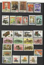 années 80 Viêt Nam un lot de timbres oblitérés  / T1697