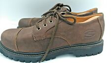 Sketchers Lace-up Brown Suede Leather Walking Athletic Shoe Size 11