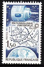 FRANCE TIMBRE NEUF  N° 2292  ** SATELLITE ET CARTE METEOROLOGIE SUR GLOBE