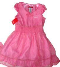 Vestido de verano nuevo Guess Talla 10 años Talla 12-14 Rosa Lunares de chifón Authenti