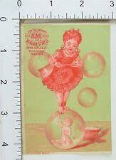 Acme Soap & Niagara Starch Girl Balancing On Bubble & Holding Bubbles F66