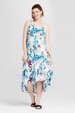 Isabel Maternity Floral Print Ruffle Skirt Dress XS NWT