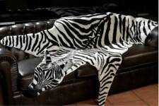 Fake Faux Fur Man made Zebra skin RUG LARGE NWT 88.5x59 inches Animal print