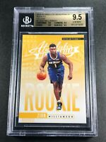 ZION WILLIAMSON 2019 PANINI ABSOLUTE #1 YELLOW ROOKIE RC ALL BGS 9.5 SUBGRADES A