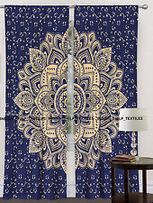 Indian Mandala Wall Tapestry Decorative Door Window Curtain Blinds 2 piece set.