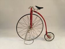 Byers Choice Red Penny-Farthing High-Wheel Bicycle