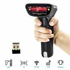 Alacrity 1D Wireless Barcode Scanner Laser,2in1 2.4G Laser