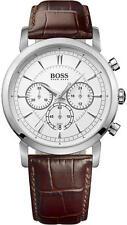 Hugo Boss Watch, Men's Chronograph Brown Leather Strap 42mm 1512871