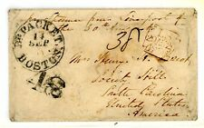 London 1860 to South Carolina British Packet Mail 48c Rate - Exhibition Quality
