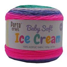 Baby Ice Cream Yarn 15g 515m 100 Acrylic 3 Ply Like Caron Cake Atlantis