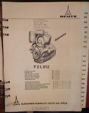 Deutz Motoren F 2 L 912 Ersatzteilliste