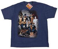 Marvel Comics Mad Engine Blue AVengers Men's X-Men Tee T-Shirt Size Large NWT