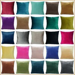 "16x16"" Velvet Throw PILLOW COVER Microfiber Decorative 2-Sided Soft Cushion Case"