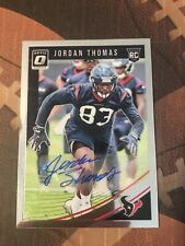 Jordan Thomas Texans TE 2018 Panini Autograph Rookie Card