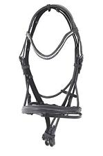 Crystal Bling Round Leather All Purpose Dressage Bridle ***WITH BONUS REINS***