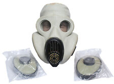 Soviet PBF Russian Military gas mask EO-19.   Grey with filters BAG