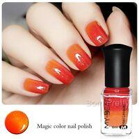 Thermal 6ml  Polish Color Changing Peel Off Red to Orange Nail Art Varnish