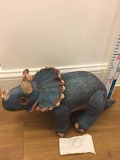 Vintage Rare 90s Jurassic Park Triceratops Dinosaur Large Soft Toy Figure
