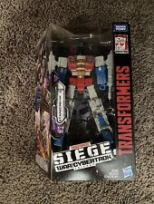 Transformers Generations Starscream Siege War for Cybertron Voyager Class New