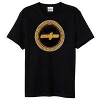 ESDJCO Men's Classic DJ Turntable Dots / Matrix T-Shirt, Authentic Tee, Black XL