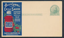 #UX27 MA-61-d VARIETY 2 MINT POSTAL CARD W/ ADVERTISING FRONT & BACK, VF BP1212
