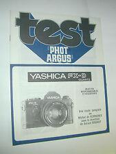 TEST PHOT ARGUS  yashica FX-D quartz en francais photo photographie