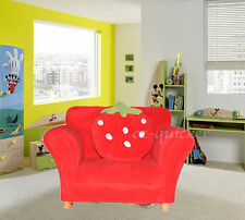 Kids Toddlers Sofa Lounge Couch Strawberry Single Seat New Red or Pink Colour