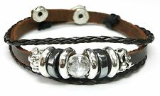 Neu LEDERARMBAND Armband ECHT LEDER Tibet / Surferarmband UNISEX braun