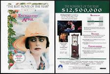 ENCHANTED APRIL__Original 1993 Trade Print AD / movie promo__MIRANDA RICHARDSON