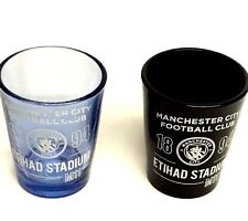 Manchester City Shot glasses Set Of 2 Official Football Club Gifts