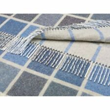 100% Lambswool Checked Decorative Throws