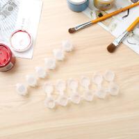 30 Strips Paint Pots Watercolor Draw Pigment Palette Storage Containers Box