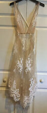 NWT Victorias Secret Sexy Embroidered Bridal Long Slip Gown Floral Lace Lg F556
