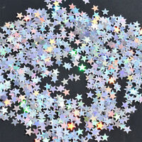 Iridescent Sparkle Star Glitter Confetti Table Decor DIY Party Supplies
