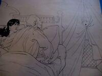 """DESSIN ORIGINAL """"LE PETIT BOB"""" 1900 Attribué RAYMOND DE LA NEZIERE HUMOUR ENFANT"""