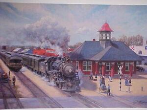 "Railroad Art, Winfield,""I&GN Depot, Rockdale, TX"" 18X24"" signed only(5401)"