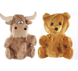 Vtg Bear Bull Reversible Hand Puppet Arts Toy Stock Market NASDAQ 2 In 1 Flip
