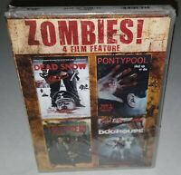 Zombies! 4 Films: Dead Snow/Pontypool/I Sell the Dead/Doghouse (Brand New DVD)
