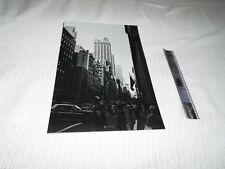 1970'S ORIGINAL NEGATIVE AND PHOTO NEW YORK CITY STREET  READ!