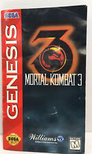 Vintage 1995 Mortal Kombat 3 Sega Genesis Manual Instruction Booklet ONLY GC