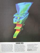 2/1989 PUB TEXTRON LYCOMING 3-D MODELING CAD/CAM AUBE GAS TURBINE ORIGINAL AD